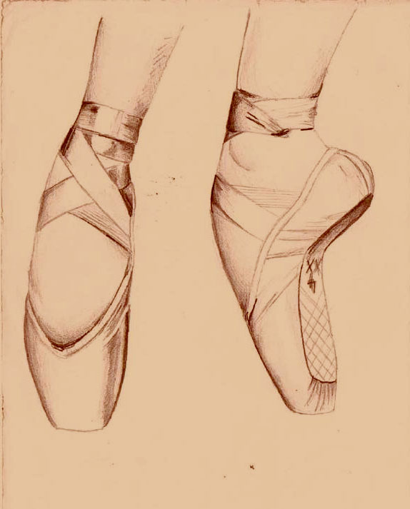 Dancing Shoes Drawing Ballet Dance Shoes Drawing