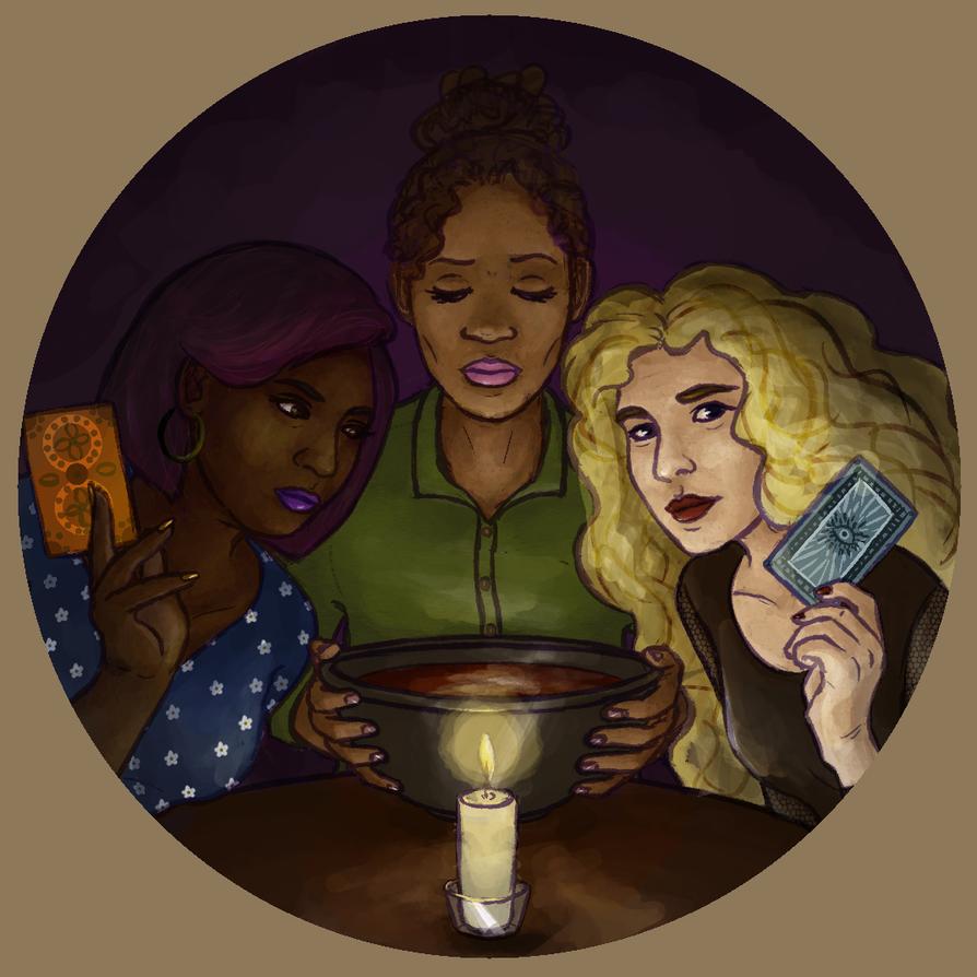 psychic girlfriends by runningfern
