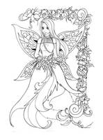 Lineart - Fairy pic by back2life