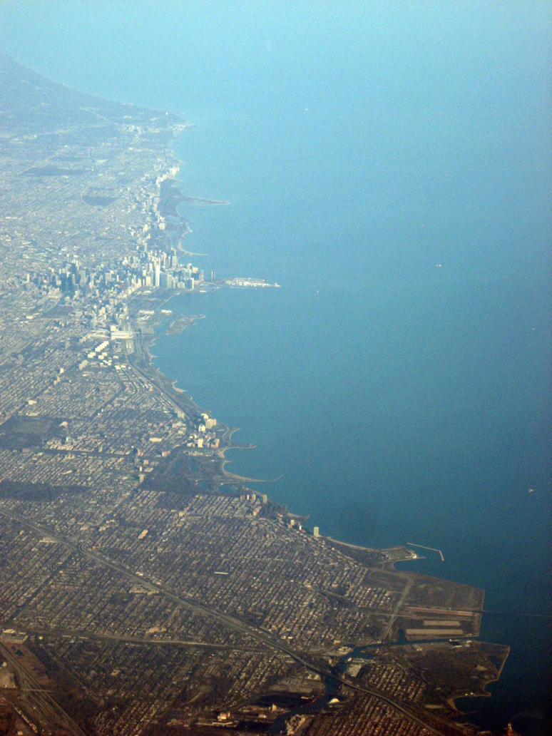 Chicago Harbor, 30,000 ft by NullCoding