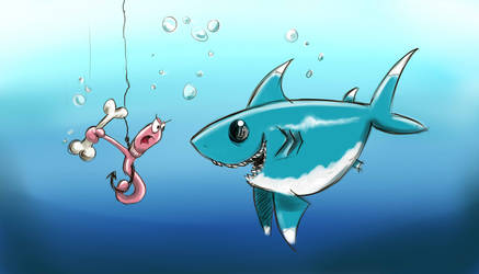 Little Sharkie is Hungry by sandygrimm2000