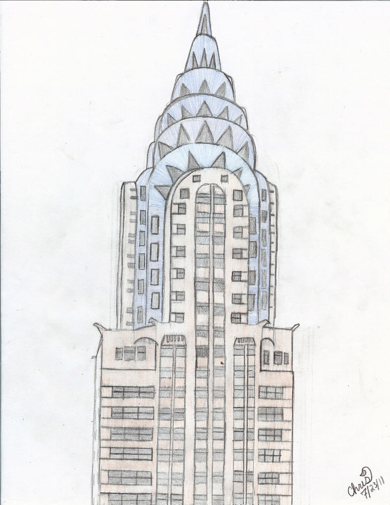 The Chrysler Building by rainbow-narwal on DeviantArt