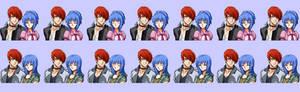 Iori and Leona DOM characters I