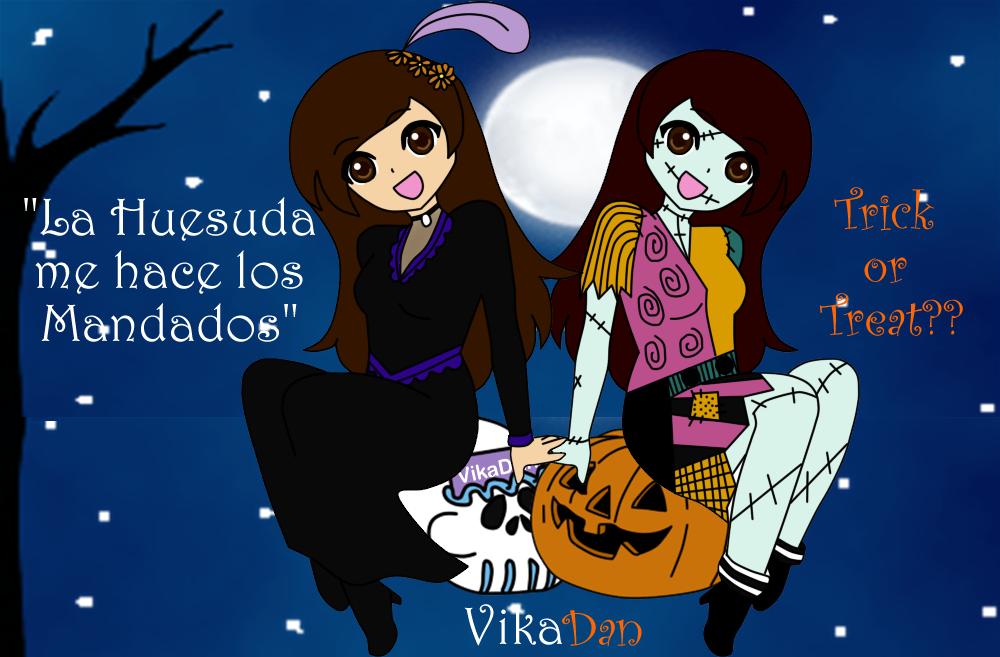 dia de muertos y halloween by vikadan - Halloween Dia