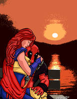 Siryn and Deadpool by ZeroEnd