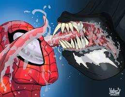 Spiderman and Venom by ZeroEnd