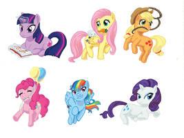 Colored Pony Keychains by Princrim