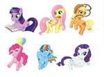 Colored Pony Keychains