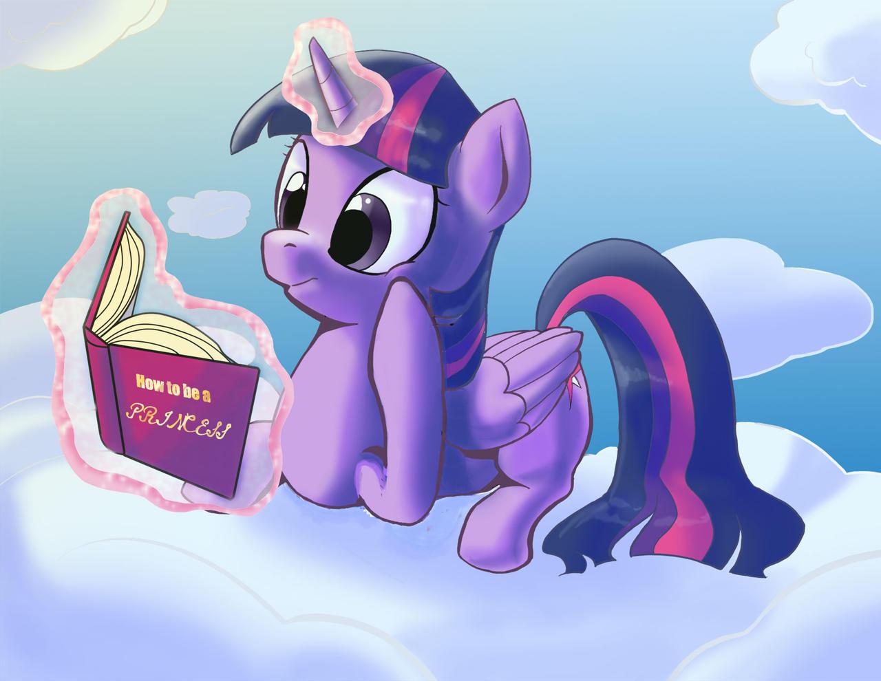 Princess Twilight Reading by Princrim