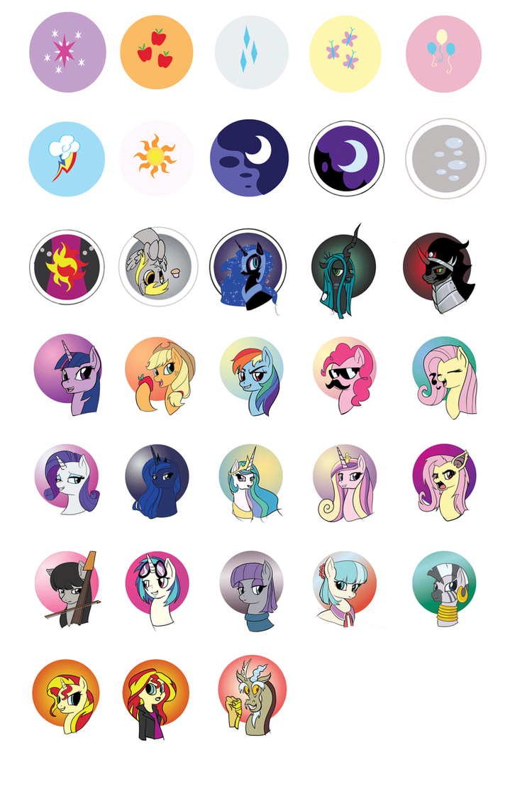 merch: Pony Buttons by Princrim