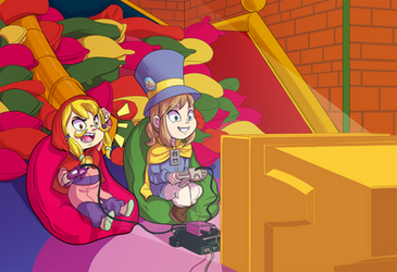 Gaming with friends by Princrim