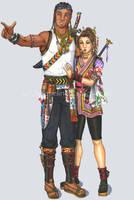 Tameron and Jendayi OC Artwork by Foxy-Lady-Jacqueline