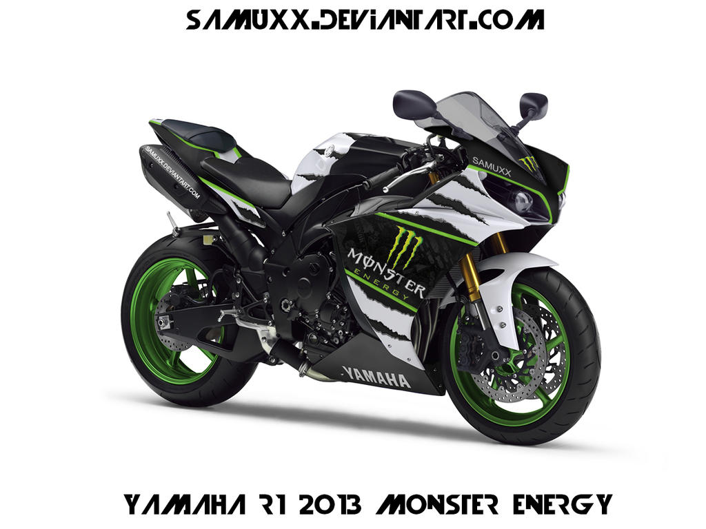 YAMAHA R1 2013 MONSTER ENERGY by SAMUXX