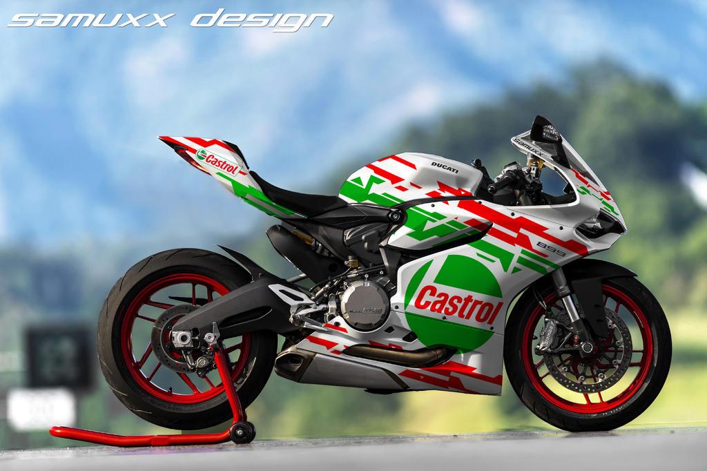 Ducati 899 Panigale Castrol by SAMUXX