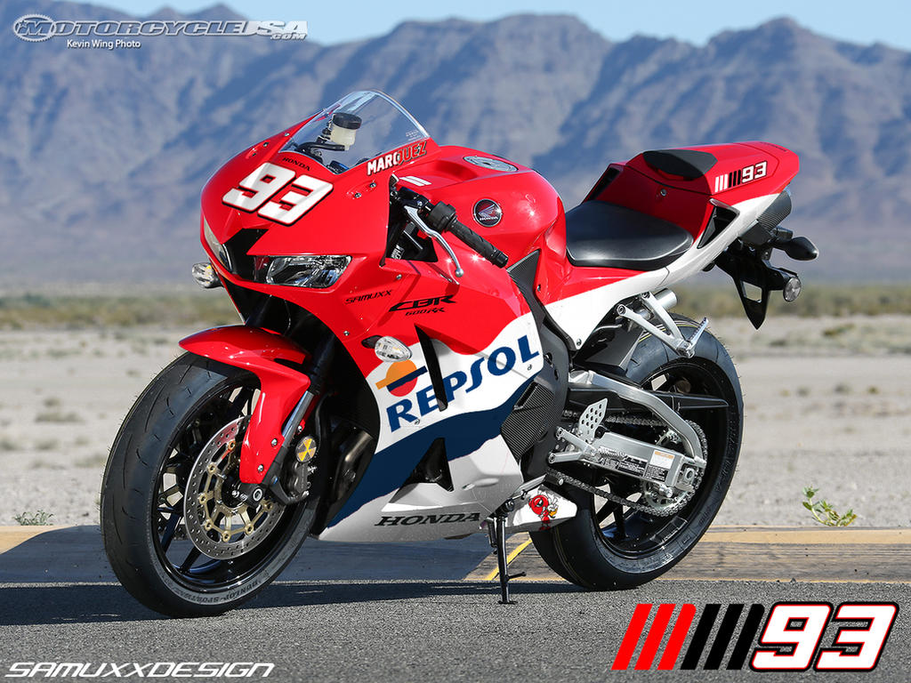 Honda CBR 600rr Marquez edition by SAMUXX