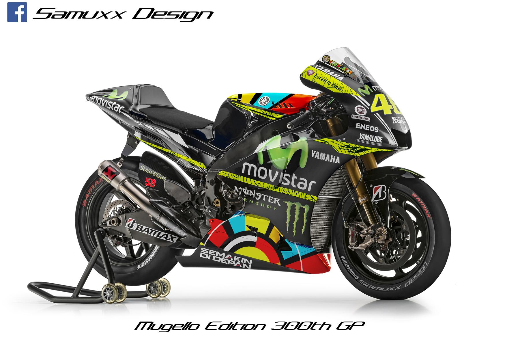 Yamaha M1 Valentino Rossi Mugello 2014 by SAMUXX on DeviantArt
