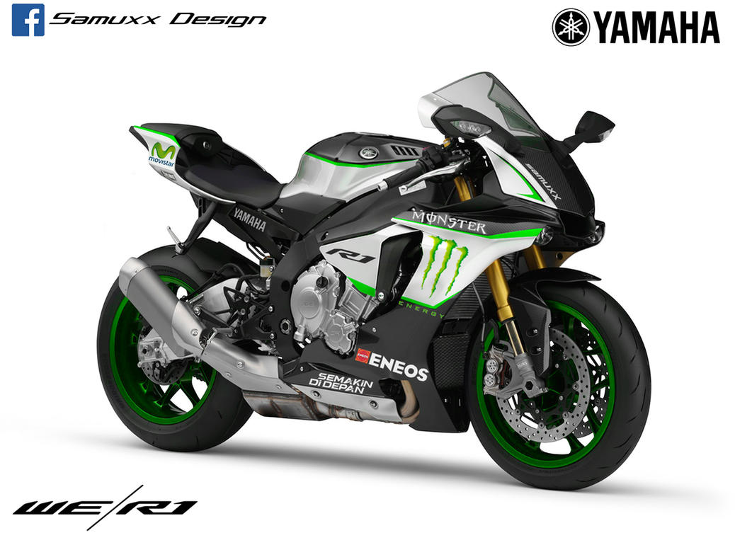 Yamaha R1 2015 Monster Energy by SAMUXX