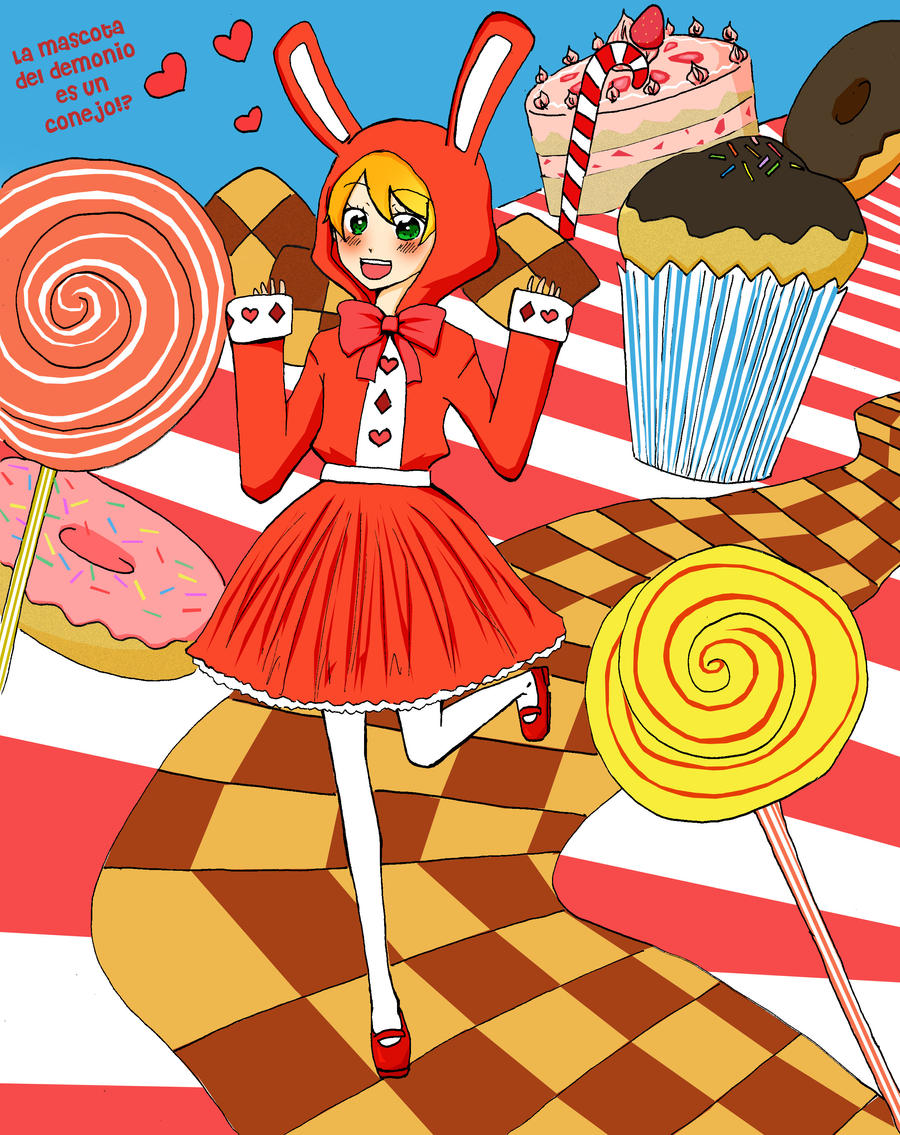 Usagi en el pais de los dulces by lamascotadeldemonio