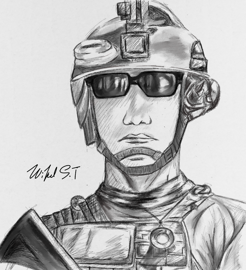 Soldier Sketch by WickedSweetooth