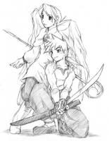 Ryu and Nina by LindenRathen
