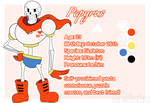 Woven Souls character ref - Papyrus by Bedeku
