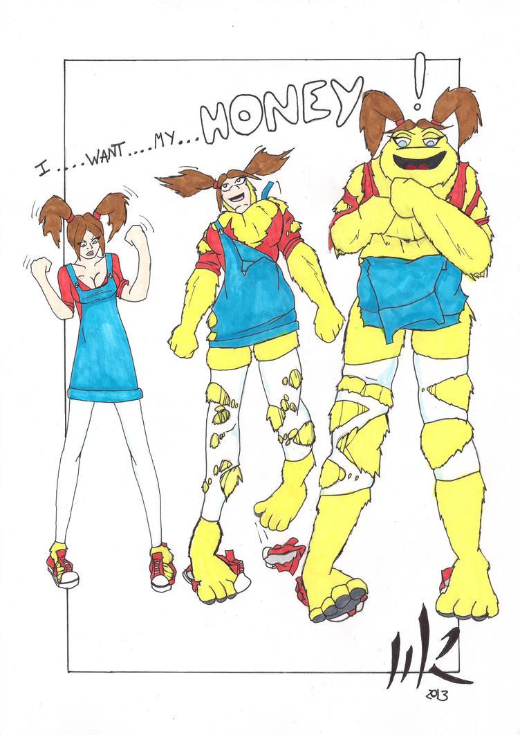 Honey Monster Katie 3 step transformation by matthewjamesrann