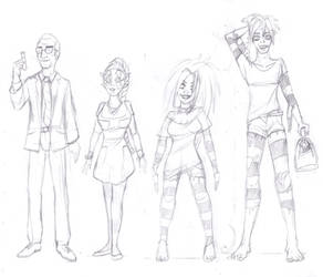 Rebecca: Main character designs