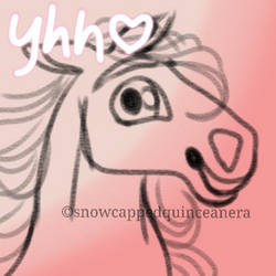 Chibi Horse Headshot YCH 1 USD OPEN