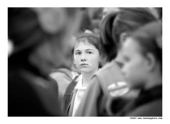 peering through a crowd by cweeks