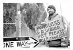 proud homeless guy