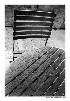 water drops on quiet table