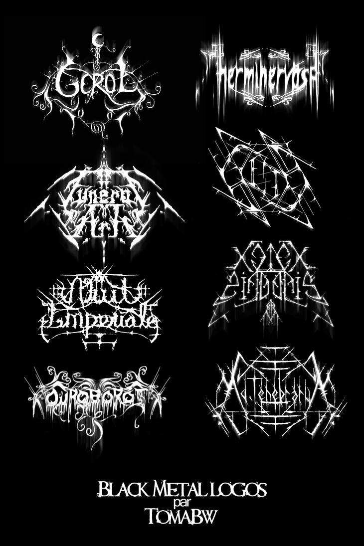 illegible black metal logo - photo #44