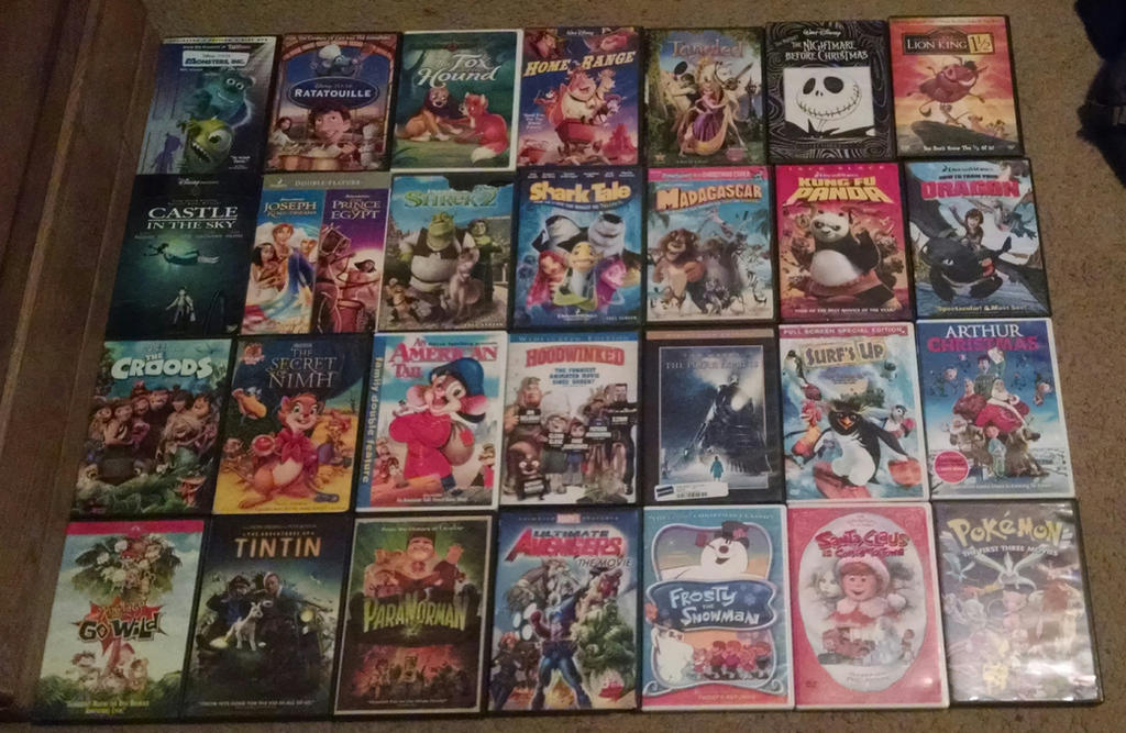 animated movie dvd collection by mlpvscapcom on deviantart