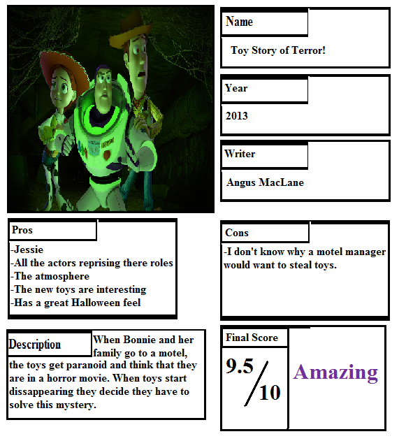 Story Foyer Pros And Cons : Pros and cons toy story of terror by mlp vs capcom on