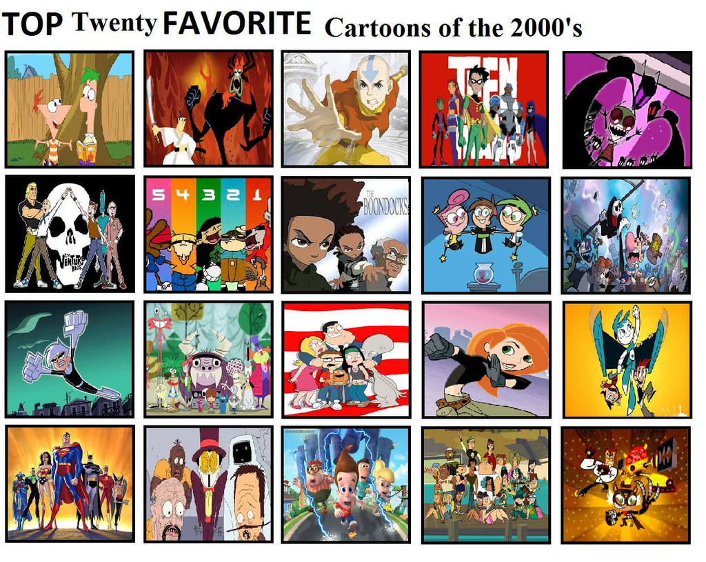Cartoon Characters 2000s : Top favorite cartoons of the s by mlp vs capcom on