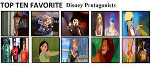 Top Ten Favorite Disney Protagonists by mlp-vs-capcom