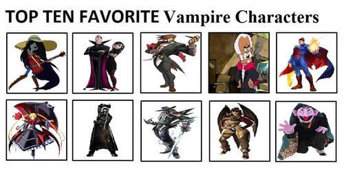 Top Ten Favorite Vampire Characters