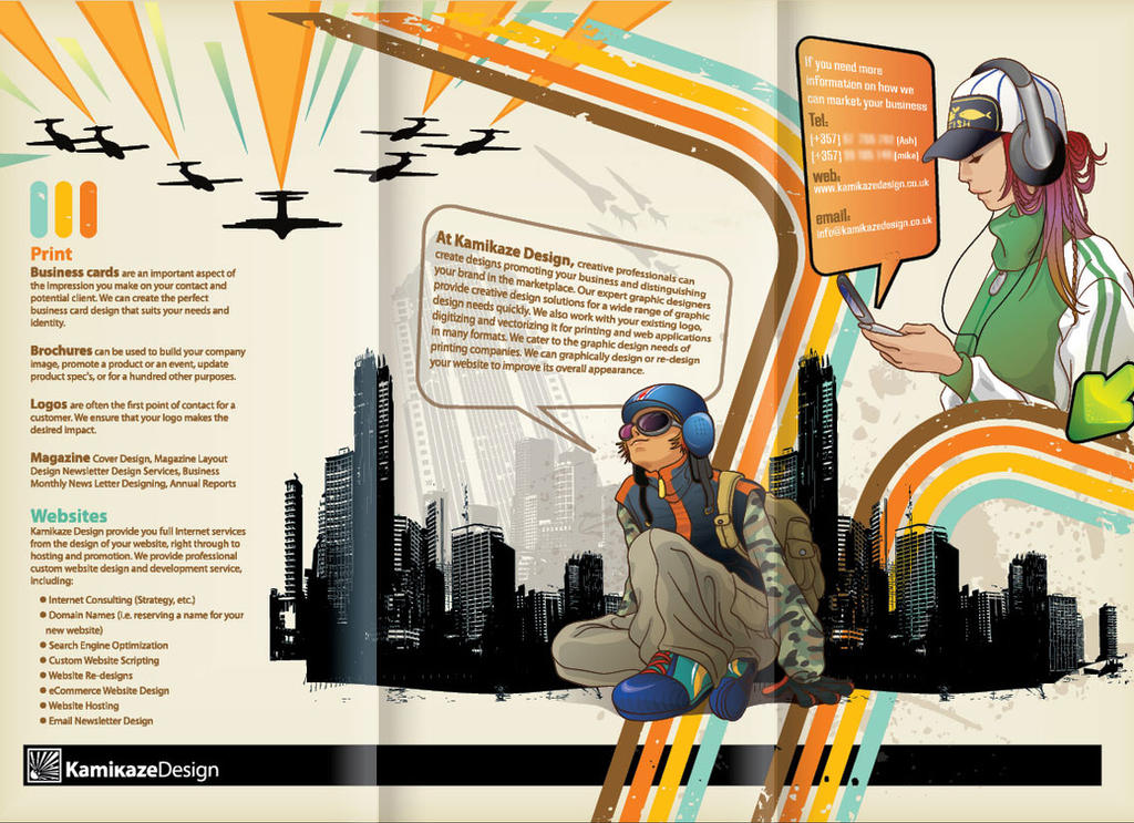 Kamikaze Brochure Inside by Mikepeers