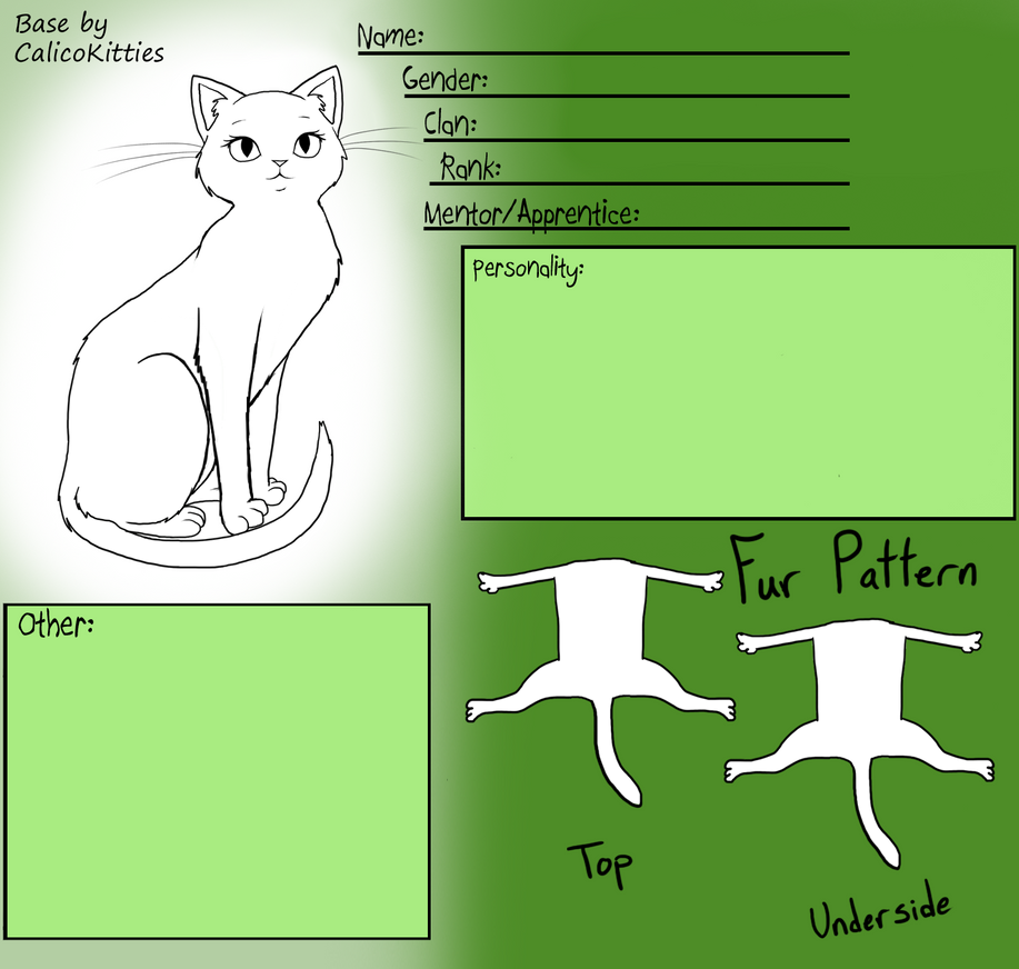 Warrior Cats Book Cover Template : Female warrior cat base by calicokitties on deviantart