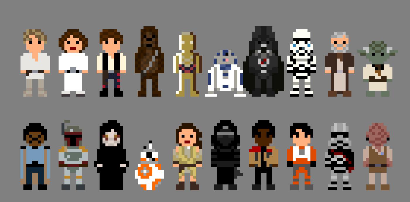Star Wars Characters 8 Bit By Lustriouscharming On Deviantart