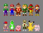 Super Smash Bros N64 Characters 8 Bit