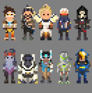 Overwatch Characters 8 Bit