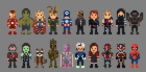 Marvel Characters 8 bit