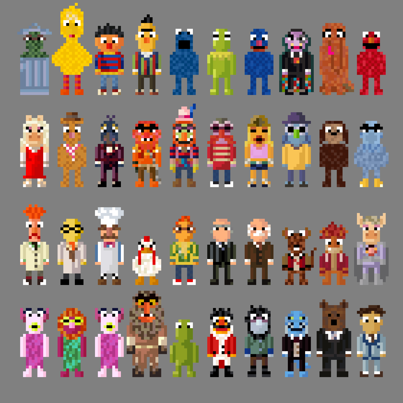 Mahnamahna explore mahnamahna on deviantart mbaboon 50 37 sesame street and muppet characters 8 bit by lustriouscharming gamestrikefo Image collections