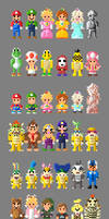 Mario Kart 8 Characters 8 bit