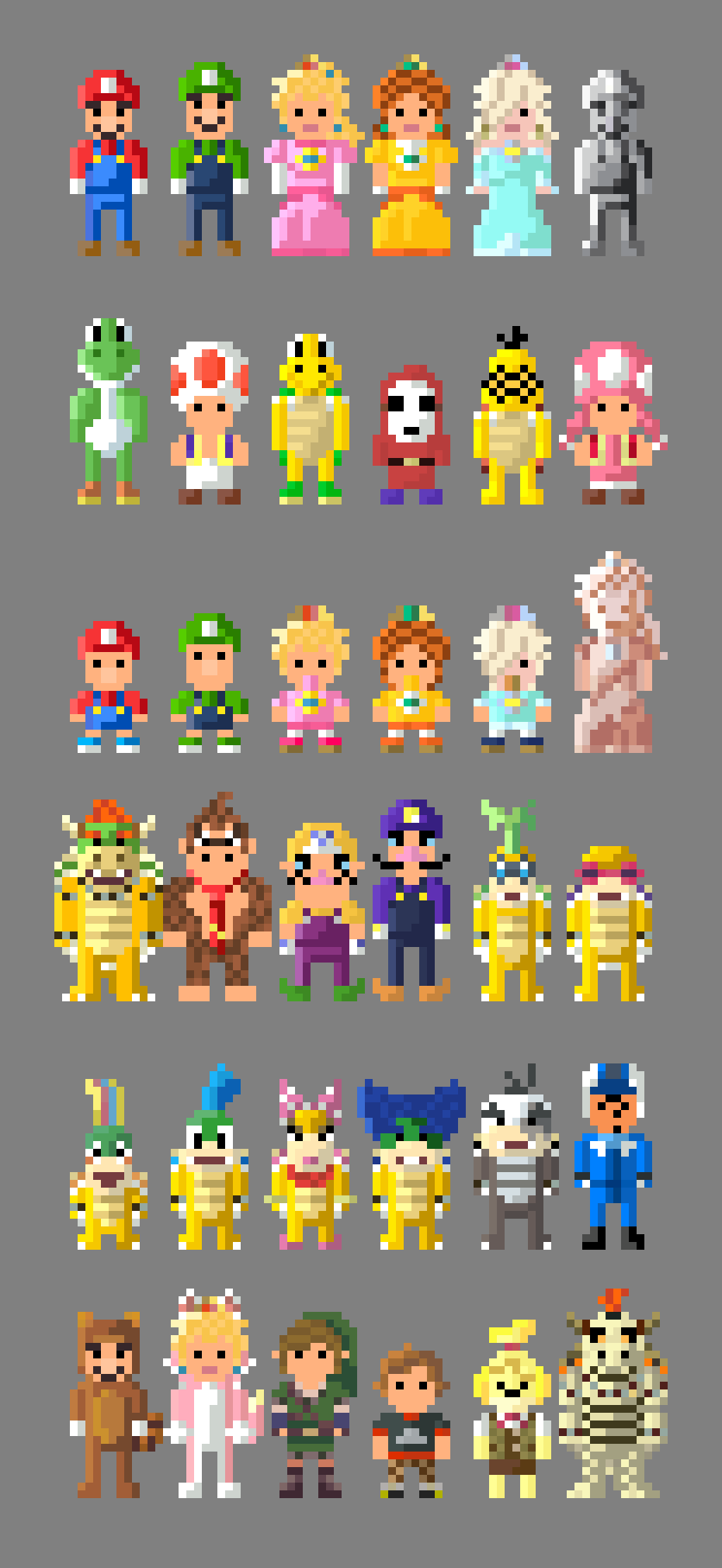 Mario Kart 8 Characters 8 bit by LustriousCharming on ...