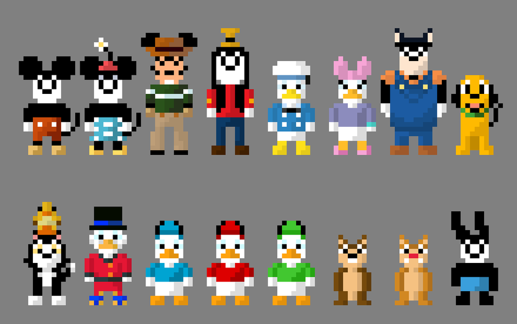 how to draw 16 bit characters