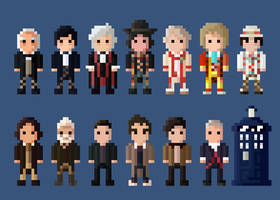 Doctor Who Characters 8 Bit by LustriousCharming