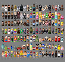 8 Bit Collection of Characters Anniversary Edition by LustriousCharming