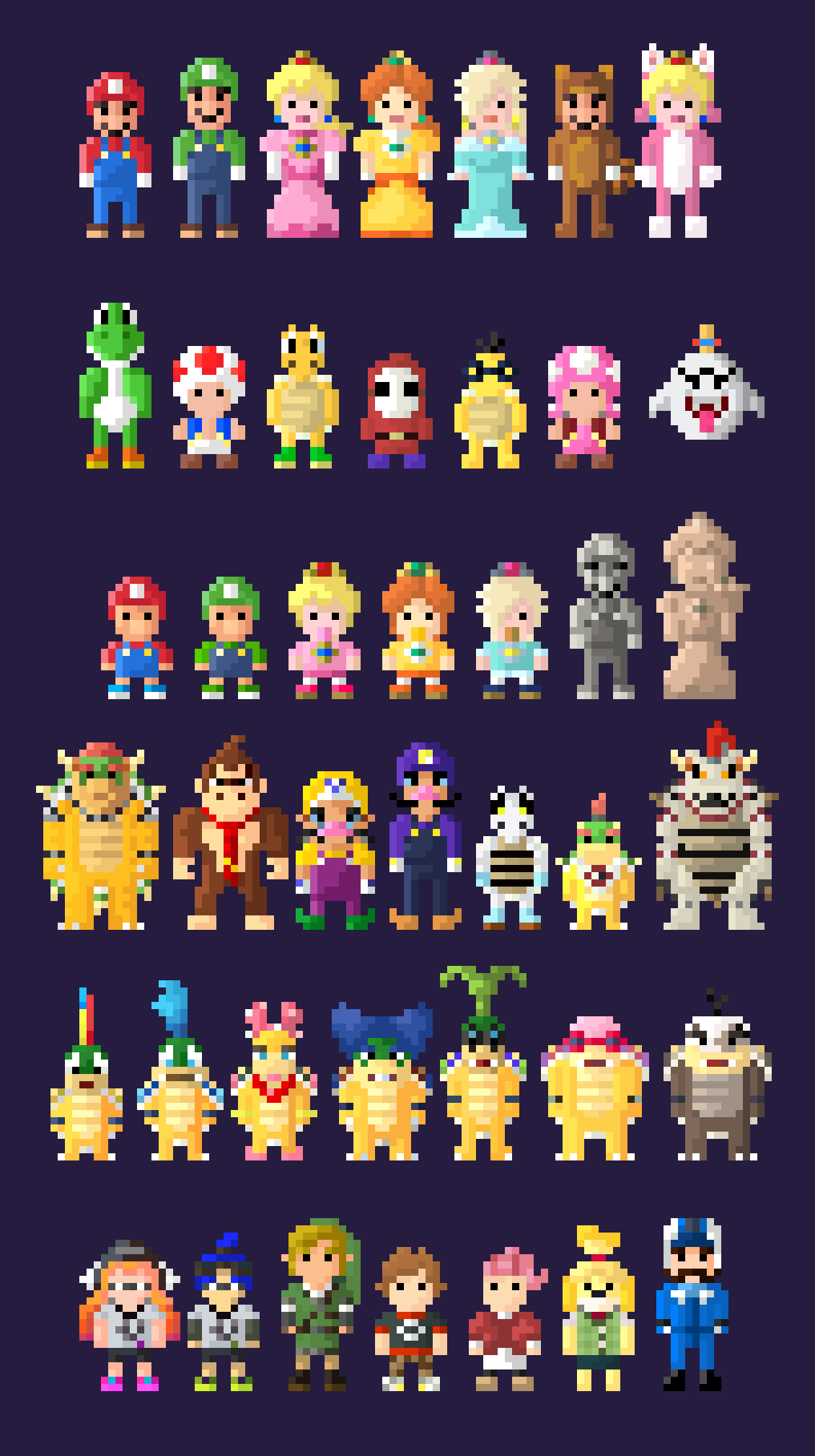 Mario Kart 8 Deluxe Characters 8 Bit By Lustriouscharming On